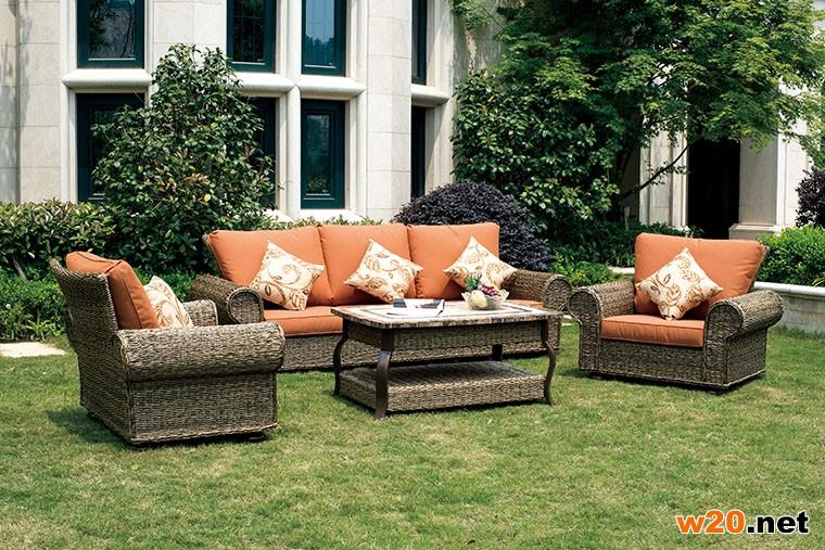 庭院编藤沙发
