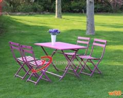 休闲铁艺折叠桌椅