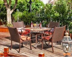 花园瓷砖拼花桌面餐桌椅组合