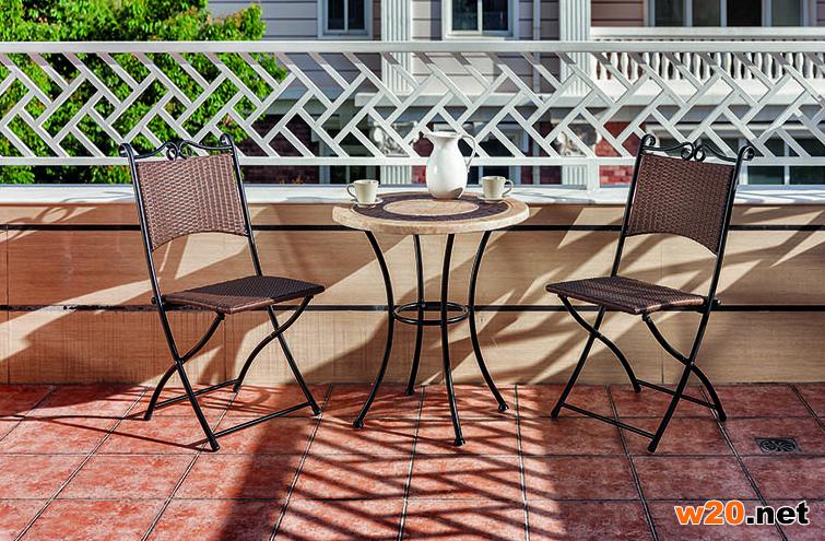 阳台休闲编藤咖啡桌椅