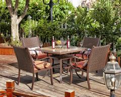 户外家具瓷砖拼花餐桌椅组合