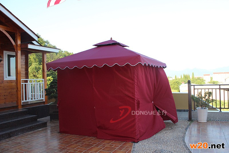 红色四亭柱凉蓬 休闲帐篷