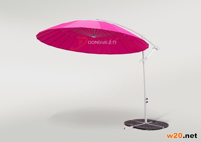 玫红遮阳伞