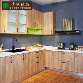 壹帆德品现代简约整体厨房橱柜定做石英石台面