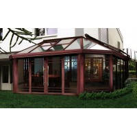 上海木纹色钢铝结构阳光房