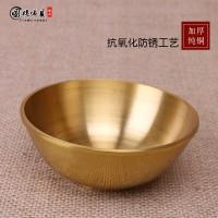 堂供具 纯铜供水碗杯净水碗