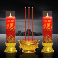 led闪烁福贵吉祥电子香蜡烛