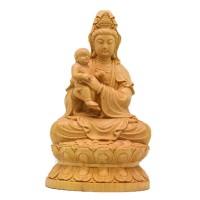 黄杨木雕送子观音菩萨佛像工艺品