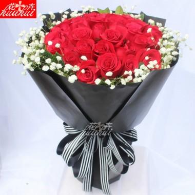 深圳爱情鲜花速递送女朋友礼物玫瑰花
