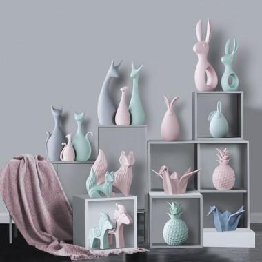 北欧装饰品工艺品创意动物小摆件礼物