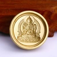 佛教 度母菩萨擦擦模具黄铜工艺品