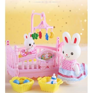 萌萌小兔子过家家卧室玩具套装
