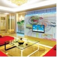 青岛艺术玻璃电视背景墙