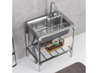 简易水池家用厨房不锈钢水槽带支架单槽图2