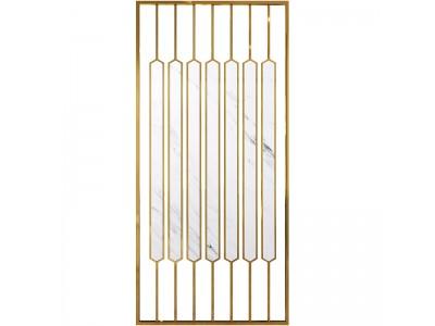 入户挡煞玄关镂空轻奢不锈钢屏风隔断图2