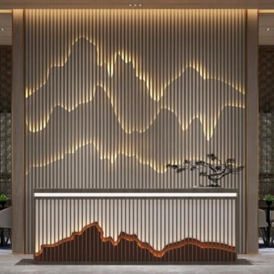 高端酒店办公室背景墙