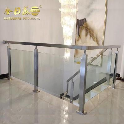 不锈钢立柱栏杆玻璃楼梯扶手