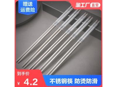 不锈钢青花筷子图1