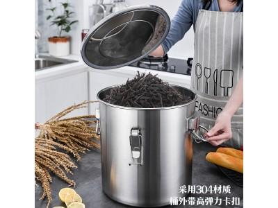 304不锈钢密封茶叶桶图2