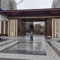 上海不锈钢小区门楼定制加工接单