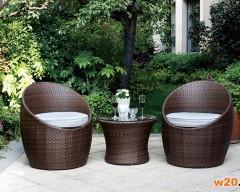 阳台精致藤编咖啡桌椅三件套-DGZ21026