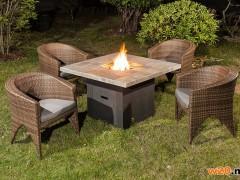 户外露天燃气火炉聚会取暖炉桌子